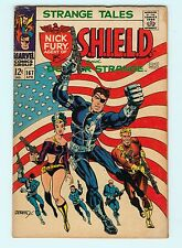 Strange Tales #167 5.0 VG/FN Silver Age Marvel Comic Book Nick Fury Flag Cover