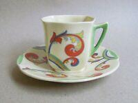 ROYAL DOULTON SYREN D5102 COFFEE CUP & SAUCER - ART DECO (Ref5491)