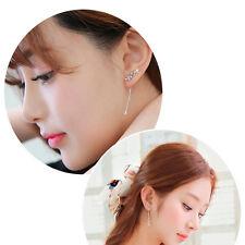 Charm Women  Korean Style Tassel Leaves Ear Stud Drop Dangle Hook Earrings HUUS