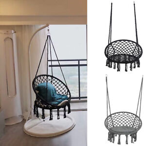 Hanging Hammock Chair Outdoor Indoor Garden Patio Rope Net Swing Macrame Seat UK