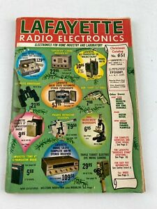 1964 Vintage Lafayette Radio electronics Christmas Catalog #651, NY, NJ, Mass