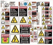 Machinery Sticker Sets For Excavator 13-25T 37 Assorted Decals MS008