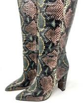 New~Sam Edelman Snake-Print Pointed-Toe Tall-Shaft Boot~Raakel~10 M