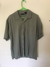 Anthology Mens Button Up Casual Lounge Shirt L