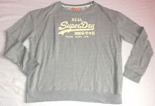 NEUF SUPERDRY Sweat-shirt gris XL, XL Hoodie Mens authentiques