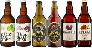 Cider Gift 6 x 500ml Kopparberg   Rekorderlig   Old Mout - Fathers day