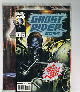 GHOST RIDER 2099 #2 MARVEL COMICS 1994 NM OB SEALED WITH SUB-TERRANIA POSTER
