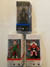 Lot Of Star Wars Black Series Action Figures Holiday Edition With Darth Vader?