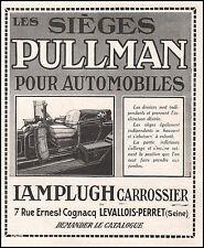 Publicité Automobile  Sièges PULLMAN Lamplugh Carrossier vintage ad 1914 -2j