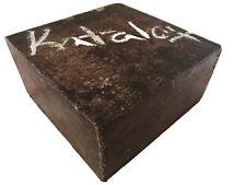 Katalox Lumber 6x6x3 Hardwood For Bowl Woodturning Knife Tool Handles Cane Grips