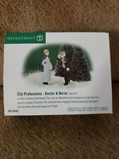 Nib Mint Dept 56 City Professions Doctor & Nurse 58962 Christmas in the City New