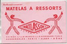 Buvard - Matelas à ressorts MATLASSOR - TBE - réf. 78/2