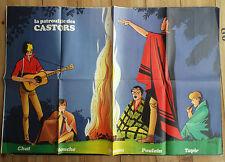 Rare Poster supplément Patrouille des castors Mitacq  N° 1648 de 1969