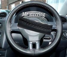 Se adapta a Vw Caddy Mk3 Lifting 2010 + Real De Cuero Negro cubierta del volante Nuevo