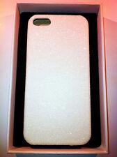 custodia rigida per Apple iPhone 5 5s colore bianco glitter
