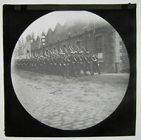 Navy Sailors Marching Boer War Era Antique Magic Lantern Military Glass Slide