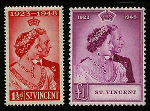 St Vincent   1948   Scott #154-155    Mint Lightly Hinged Set