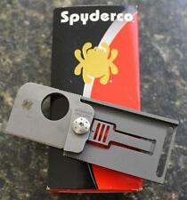 Spyderco C193TIP Squarehead Folding Knife S30V PlainEdge Blade Titanium Handle