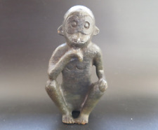 Old Chinese Hongshan culture Jade Hand-carved monkey statue #330