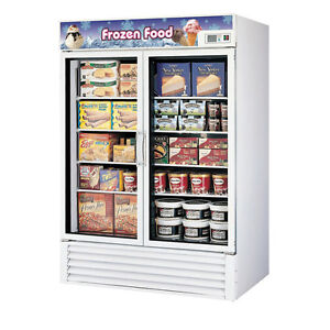 Turbo Air TGF-49F-N Freezer 2 Doors Swing Glass Merchandiser, White Cabinet