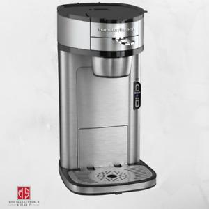 Single Serve Coffee Maker Stainless Steel 1 Cup Coffeemaker HAMILTON BEACH