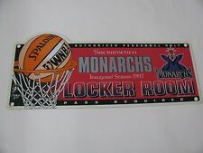 VINTAGE WINCRAFT 1997 WNBA SACRAMENTO MONARCHS INAUGURAL SEASON LOCKER ROOM SIGN