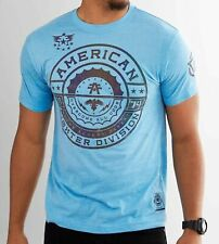 New American Fighter by Affliction Short Sleeve T-Shirt Men's Freemont Blue Mma