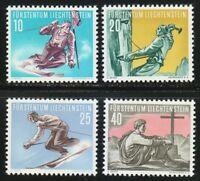 Liechtenstein 1955 MNH Sc 289-292 Mi 334-337 Slalom,Alpinism,Skiing .XF CV 75$