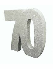 Silver Glitter Number Table Decoration Age 70