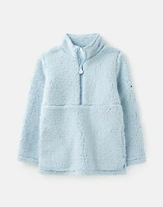 Joules Girls Poppie Teddy Fleece  - Light Blue - 2Yr