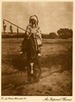 THE VANISHING RACE - AN IMPERIAL WARRIOR - GENUINE & AUTHENTIC - PHOTOGRAVURE 2