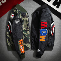 Men Camo Hoodie A Bathing Ape Bape Shark Jaw MA1 Army Jacket Flight Bomber Coats