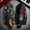 A Bathing Ape Men Jacket Bape Shark Jaw MA1 Army Flight Bomber Camo Hoodie Coats