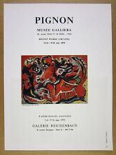 1970 Edouard Pignon painting Paris gallery exhibition vintage print Ad
