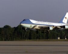 Air Force One arrives at Andrews Air Force Base on 9-11-2001  -New 8x10 Photo