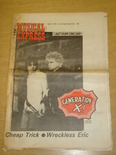 NME 1978 APR 8 GENERATION X CHEAP TRICK WRECKLESS ERIC