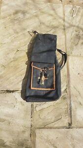 Leather vintage African duffel bag