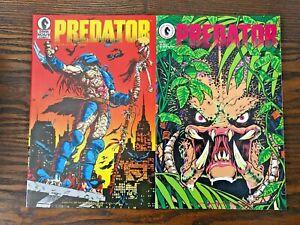 Predator #1 and 2 First Printing Dark Horse 1989 High Grade