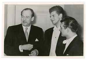 1960 Van Cliburn Famous American Pianist Klimov Cherkasov Rare Russian Postcard