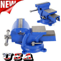 """4"""" Bench Vise Heavy Duty Clamp 360 Swivel Locking Base Craftsman Vice Home Tool"""