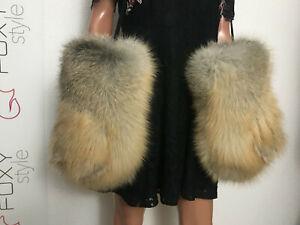 Golden island Fox Fur Huge mittens.