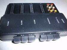 AUDIO und VIDEO SCART Umschaltpult f. 3 Stereo Videogeräte vergoldete Kontakte