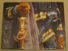 Strength - Firemen collector plate Commitment To Courage Firefighters