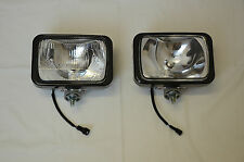 IPF 800XS RECTANGLE 4WD DRIVING FLOOD LIGHTS + IPF WIRING LOOM & CLEAR COVERS