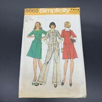 Simplicity Vintage Sewing Pattern #5865 Misses Short Dress Jumper Tunic Size 12