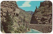 CLEAR CREEK CANON Highway U. S. 6 Golden Idaho Springs  COLORADO Postcard CO