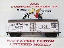 Ho Custom Lettered Early Union Pacific Rr Freight Car Reefer. Lot A