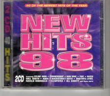 (HO245) New Hits 98, 40 tracks various artists - 1998 double CD