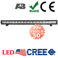 "SLIM DESIGN A&B 30"" 90W CREE-LED Light Bar Off Road Work Lamp 7200LM Spot +Flood"