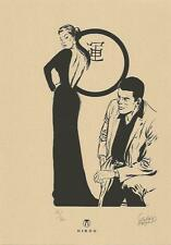 Bob Morane Gérald Forton ex libris sérigraphie noir & blanc 30 ex signé